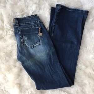 Miss Me Distressed Bootcut Dark Highland Jeans 26